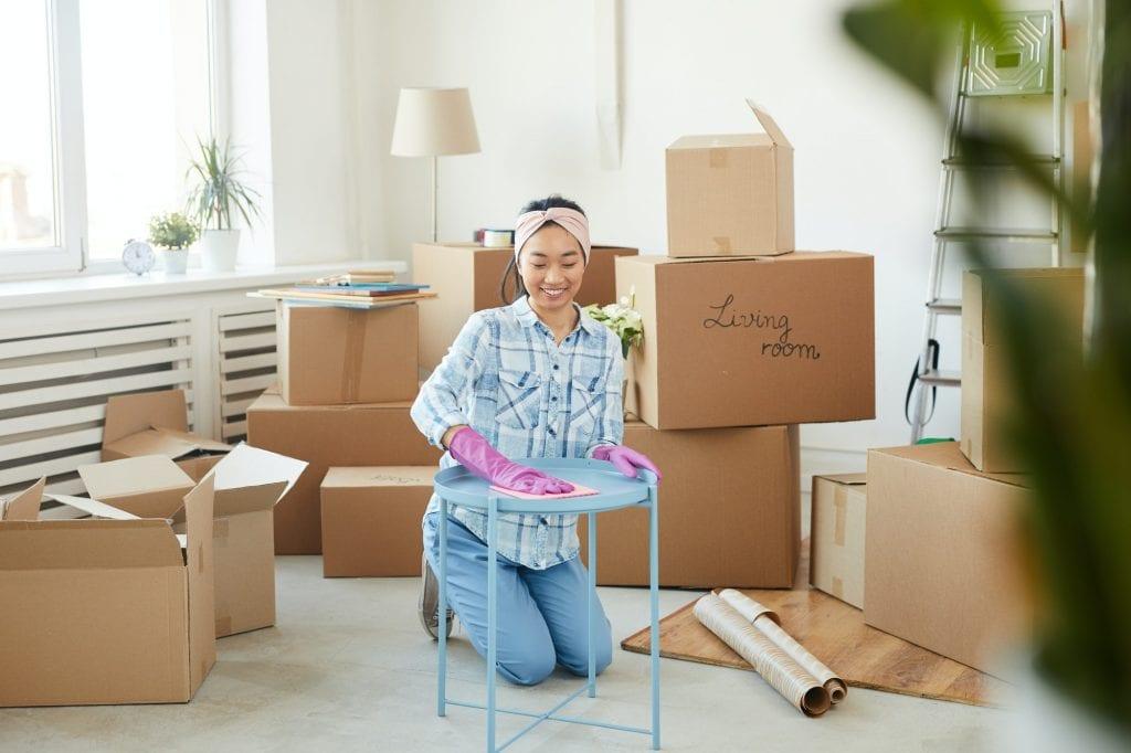Woman Decluttering storage in Sheffield
