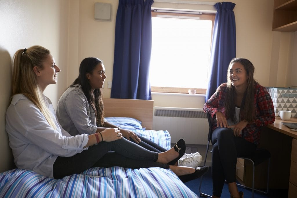 Student flatmates using storage in Sheffield when moving accommodation.